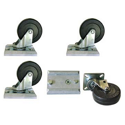 "Caster Set - 3"" Track-Loc Removable"