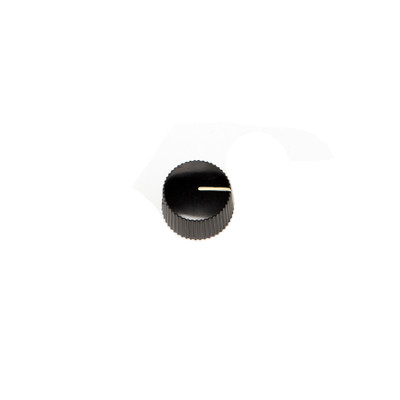 Knob - 408015 - Ribbed - Black