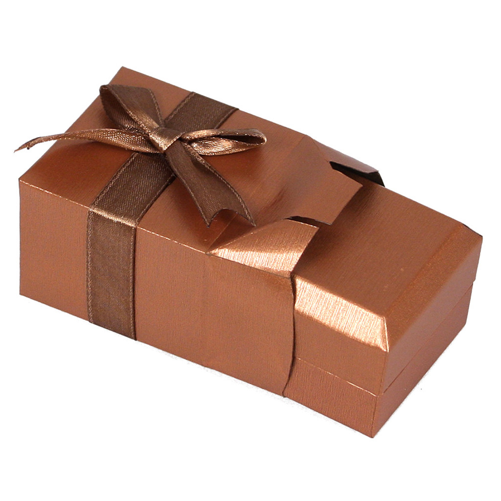 Self-Wrapped Paper Box, Copper color , Choose from various sizes
