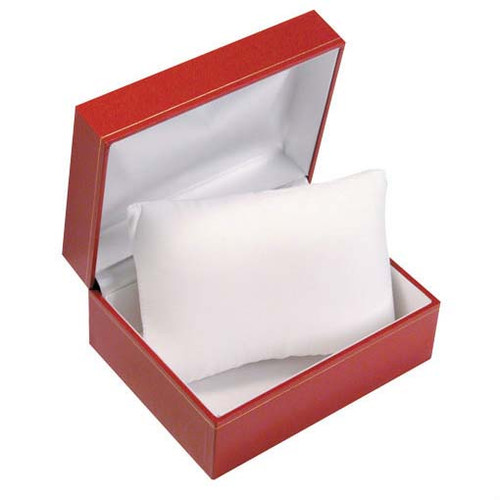 "Classic Style watch-pillow Box,5 1/4"" x 4 1/8"" x 2 1/2"",  Choose from various Color"