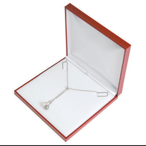 "Classic Style Necklace Box, 6 1/2"" x 6 1/2"" x 1 1/4"",  Choose from various Color"