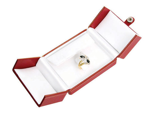 "Classic Style Earring/Ring Box, 3 1/2"" x 3"" x 1 1/2"", Choose from various Color"