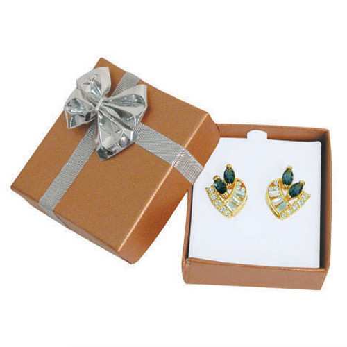 """Bow tie earring box, 2"""" x 2 1/8"""" x 7/8"""", Choose from various color"""