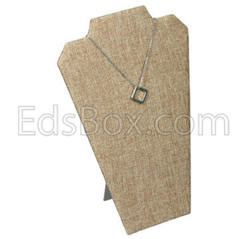 "Linen Necklace Easel Display 8 1/4"" x 12 1/2""H, (Choose from various Color)"
