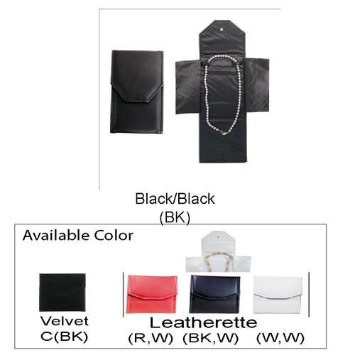 "Necklace Leatherette Folder, 4 1/4"" x 7"""