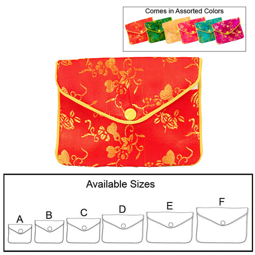 Assorted 6 Color Silky Pouch, (Choose from various color), price for 12 pieces