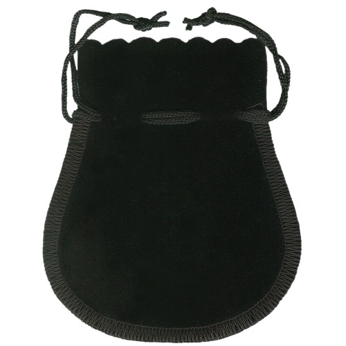 Scalloped -Edge Velvet Pouch,Choose from various color & size, price for 12 pieces
