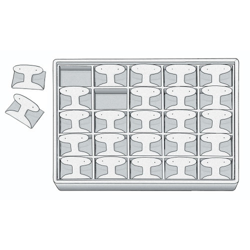 "Stackable Earring Tray, 12 1/2"" W x 8 3/4"" D x 1 7/8"" H ET1226 (WH)"
