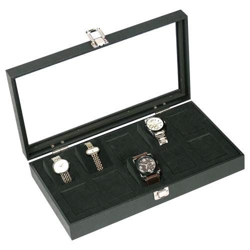 "Glass to View 10-Foam insert Watch Case, 14 3/4"" x 8 1/4"" x 2 5/8""H"