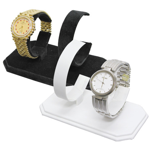 "Double Watches Display, 5 3/8"" x 3"" x 3 3/8""H,,Choose from various color"