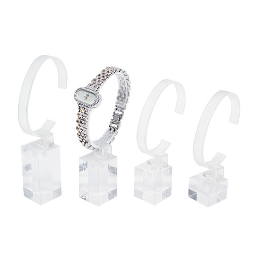 "Clear  Acrylic Display 4-pieces Set, 1"" x 1"" x 3 3/4"" , 4 1/8"" , 4 1/2"" , 5""H"