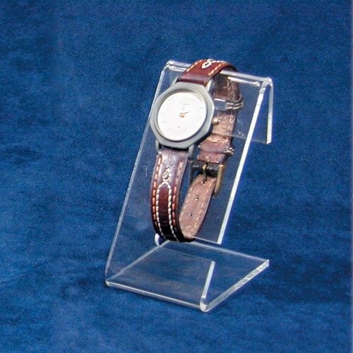 "Clear Acrylic Single Watch Stand, 1 1/2"" x 2"" x 3""H"