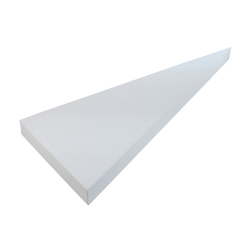 "2-Pieces Corner Base Set,White Leather , 7 1/2"" x 19"" x 1""H"