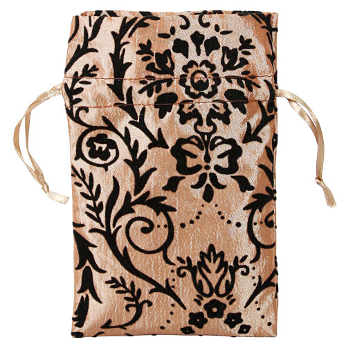 "4"" x 5"",Gold Taffeta / Damask Pouch , price for Dozen,Buy More Save More"