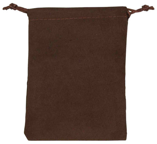 "4"" x 5"", Brown Suede Drawstring Pouch, price for Dozen,Buy More Save More"