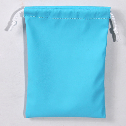 "4"" x 5"",Turquoise Leather Drawstring Pouch, price for Dozen,Buy More Save More"