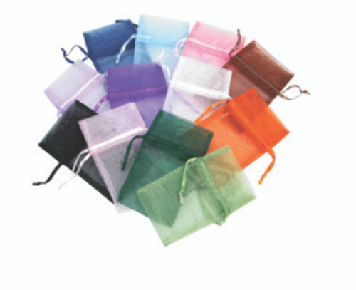 "5"" x 6"", Organza Drawstring Pouches, Mix 12 Color, price for Dozen,Buy More Save More"