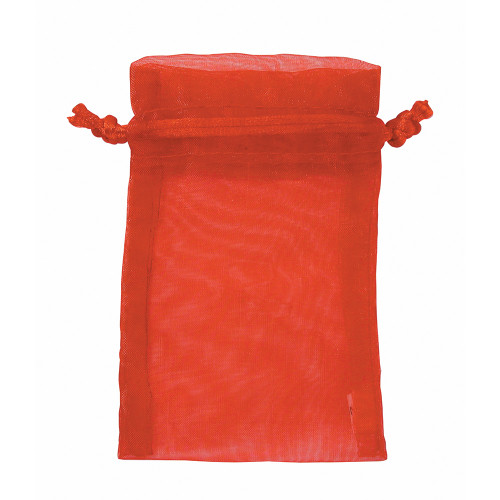 "6"" x 8"", Red Organza Drawstring Pouches, price for Dozen,Buy More Save More"