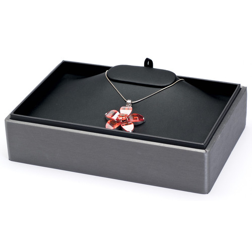 "2"" H Stackable Necklace Tray,  9"" x 6"" x 2 1/8"" H F61-78R"
