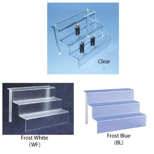 "Acrylic mini-stair display (1/8"" thick) ,9"" x 6 1/8"" x 6""H"