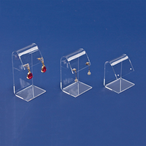 """Acrylic Earring Display 3pcs/set, 1 1/2"""" x 2"""" x 2 1/4""""H ,3 1/8""""H, 3 7/8""""H"""