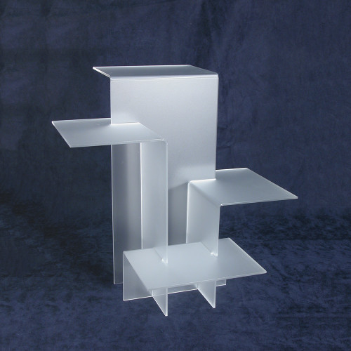 "4-Tier Acrylic Display Stand (Frost), 11"" x 11 1/2"" x 11 1/2""H, Assemble Required"