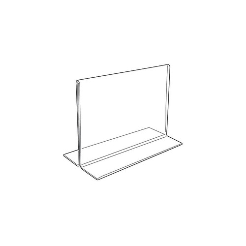 "Acrylic Sign Holder,2 Side Upright, 5 1/2"" x 3 1/2"""
