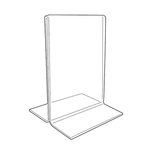"Acrylic Sign Holder,2 Side Upright, 5"" x 7"""