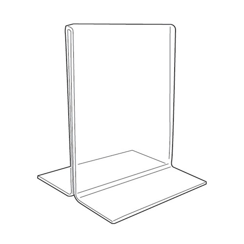 "Acrylic Sign Holder,2 Side Upright, 5 1/2"" x 7"""