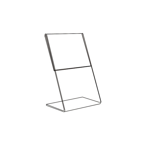 "Acrylic Sign Holder,1 Side Slant Back, 3 1/2"" x 5 1/2"""
