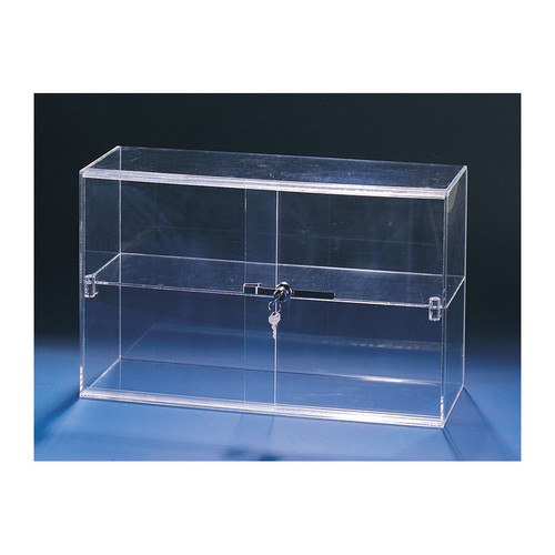 "Acrylic Sliding Door Showcase,With Key Lock,  21 1/4"" x 7 1/2"" x 13 1/4""H"