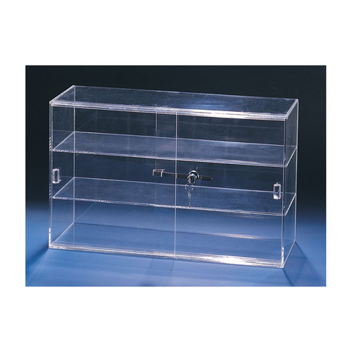 "Acrylic Sliding Door Showcase,With Key Lock,  21 1/4"" x 7 1/2"" x 13 1/4""H."