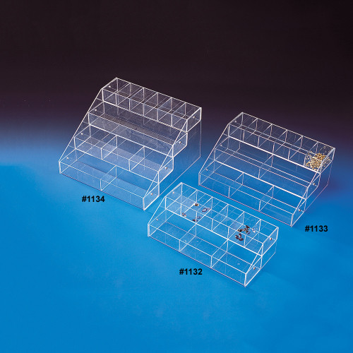 "Acrylic Multi-Tier Bin Organizer, 16"" x 8"" x 4 5/8""H, Assemble Requiresd"