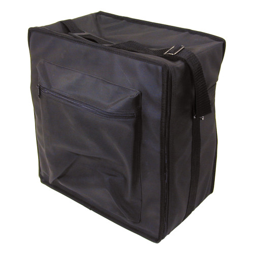 "Premium Fabric Carrying Case with Shoulder Strap- Black, 16"" x 9"" x 16""H, Hold 15 pcs Stander Tray"