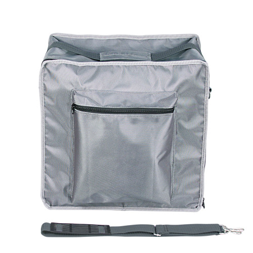 "Premium Fabric Carrying Case with Shoulder Strap- Grey, 16"" x 9"" x 16""H, Hold 15 pcs Stander Tray"
