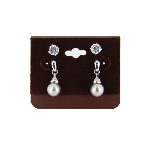 """Hanging Multi-pair Earring Card - Wine Brown, 2 1/2"""" x 2"""", Price for 100 pcs"""