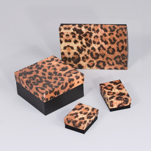 Leopard Cotton Filled Boxes(Choose from various sizes), price for 100 pcs