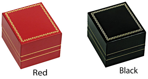 "LR3 Classic Style Ring Box, 1 3/4"" x 2"" x 1 1/2"", Choose from various Color"