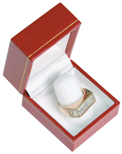 "LF3 Classic Style Finger Ring Box, 1 3/4"" x 2"" x 1 1/2"",Choose from various Color"