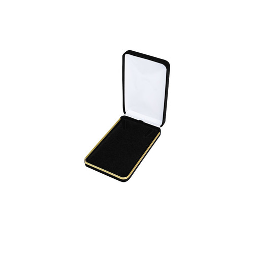 """Velvet Necklace Box with Gold Trim, 4 1/4"""" x 7"""" x 1 5/8"""",(Choose from various Color)"""