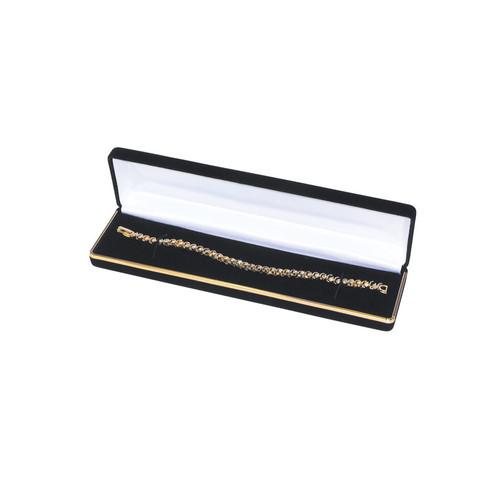 "Velvet Bracelet Box with Gold Trim, 8"" x 2"" x 1 1/8"",(Choose from various Color)"