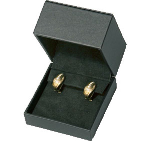Black Faux Leather Earring Box