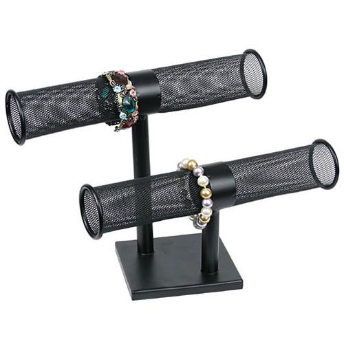 Metal T-Bar Double Bracelet Display