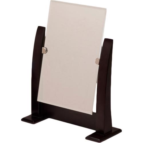 Dark Walnut Wood Frame Countertop Mirror