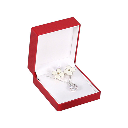 Fancy Earring Pendant Combination Box with Ribbon , Choose from various Color