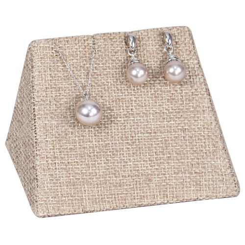 "Combo Display -linen,Earring/Pendant, 3.75x2.5x2.4""H,(Choose from various Color)"