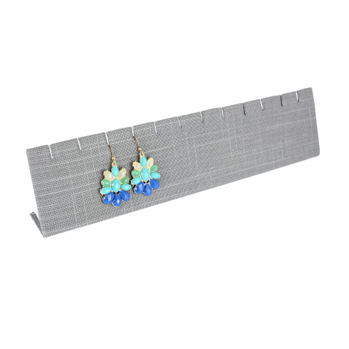 "Extra Long Earring/Pendant stand,linrn,12"" x 2 5/8""H, (Choose from various Color)"