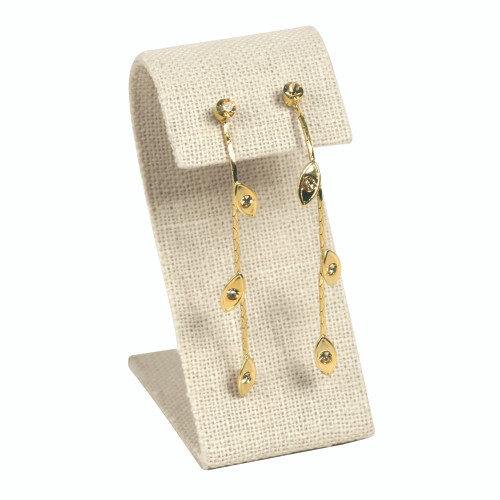 """Earring Display, linen, 1 1/2"""" x 3 1/4""""H,(Choose from various Color)"""