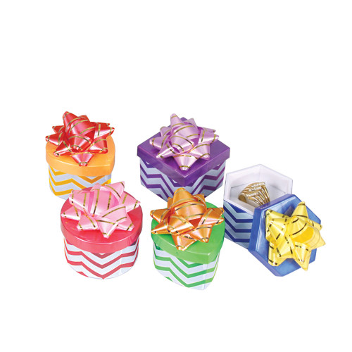 Ring box ,Hat box,Chevron  Assorted Color, price for 48 pieces