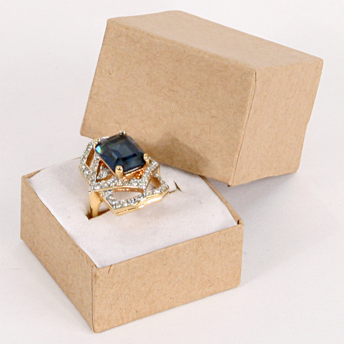 "Ring Box, 1 3/4"" x 1 3/4"" x 1 5/8""H, Kraft, Price for 100 Pieces."